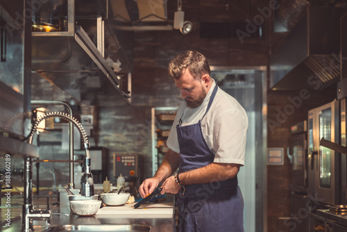 Wall mural Professional in the kitchen