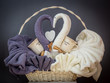 Ręczniki Mąż Żona uformowane w łabędzie
