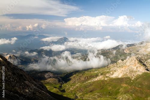 Turkey mountais vith the clouds (Summer) - 188367258