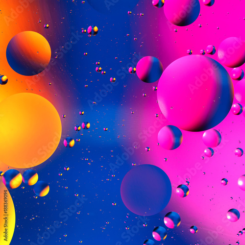 Colorful artificial background with bubbles. - 188369094