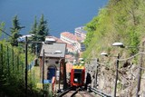 The cableway from Como to Brunate at Lake Como in sping, Italy - 188373844