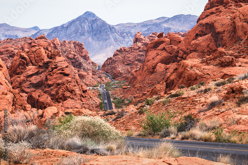Fotobehang Zalm scenic roads at Valley of Fire.