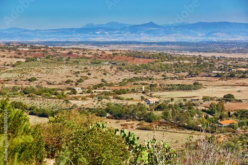 Foto Murales Beautiful landscape in central Sardinia, Italy