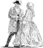 Gentleman and lady are talking - 188388408