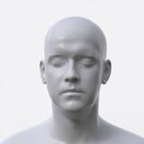 portrait of white artificial man