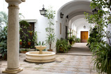 Beautiful view of a traditional patio in Seville - 188393853