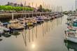 Quadro Bretagne Lorient Quai des Indes avec soleil matinal - Brittany Lorient Quai des Indes with morning sun