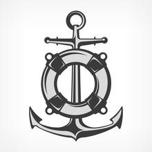 Anchor  Lifebuoy Nautical Symbols  Marine  Sticker