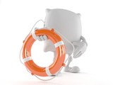 Pillow character holding life buoy - 188414282
