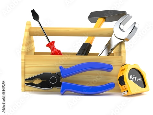Wooden toolbox