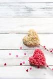 Homemade Rice Crispy hearts/ Valentines day frame - 188418894