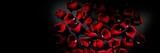 Scattered red rose petals - 188420481