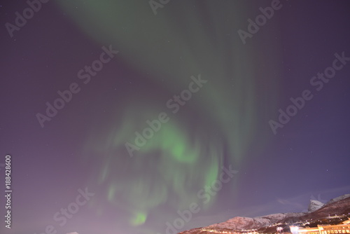 Foto op Plexiglas Lavendel Aurora Borealis (Northern Lights) in Norway