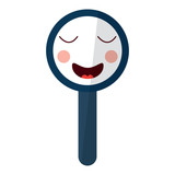 kawaii cute funny magnifying glass vector illustration - 188430269