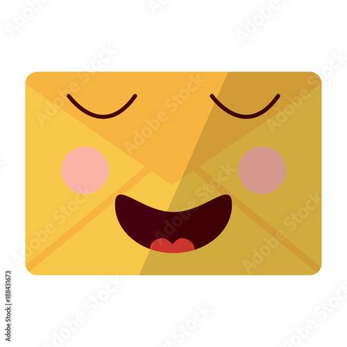 happy message envelope kawaii icon image vector illustration design  - 188431673