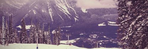 Foto op Canvas Aubergine Winter landscape