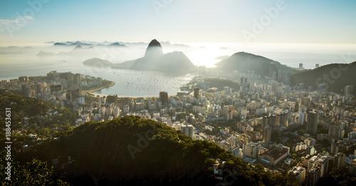 Sugarloaf mountain and skyline of Rio de Janeiro, Brazil