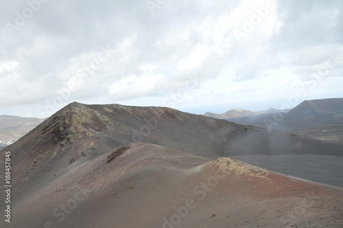 Foto op Canvas Wit lanzarote travel mountain and ocean