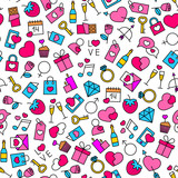 seamless pattern with valentine's day design elements
