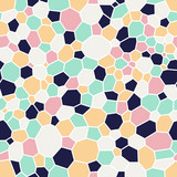 seamless pattern with abstract mosaic ornament