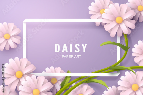 paper art of daisy flower and background template buy photos ap