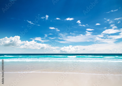 Aluminium Tropical strand beach in Maldives