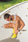 Ankle injury and pain from jogging / exercising outdoors. - 188521486