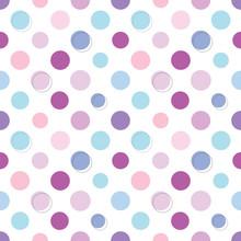 Polka Dot Seamless Pattern Sticker