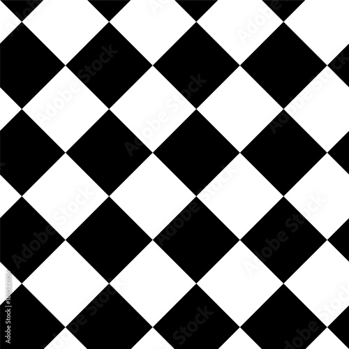Square pattern. Vector seamless geometric background. Black, white and gray colors