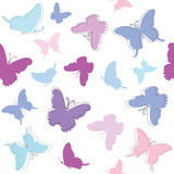 Seamless pattern background with butterflies.