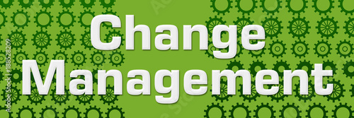 Change Management Green Gears Horizontal