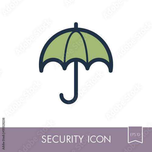 Insurance Icon. Umbrella sign