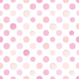 Polka dot seamless pattern in pastel pink colors.