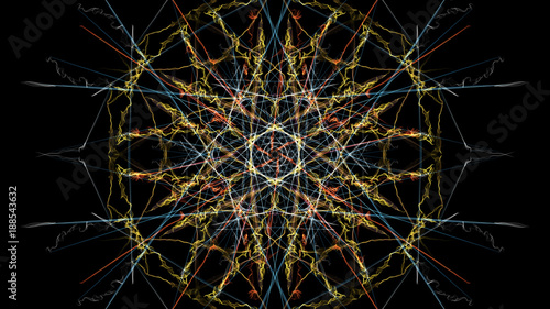 Fotobehang Abstract wave Abstract background - Neon light star.