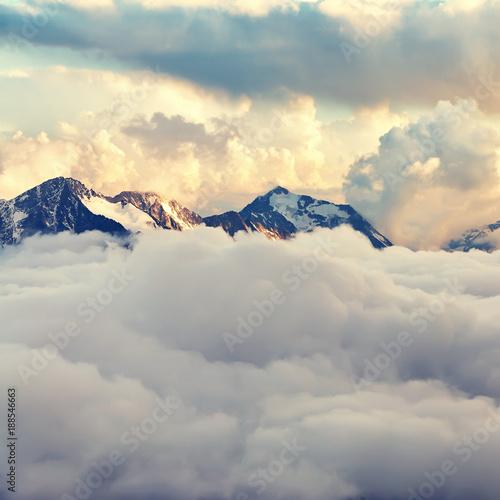 scenic alpine landscape - 188546663