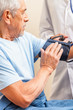 Pressure measurement in elderly men
