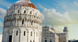 Baptistery in Piazza dei Miracoli after a Snowfall, Pisa