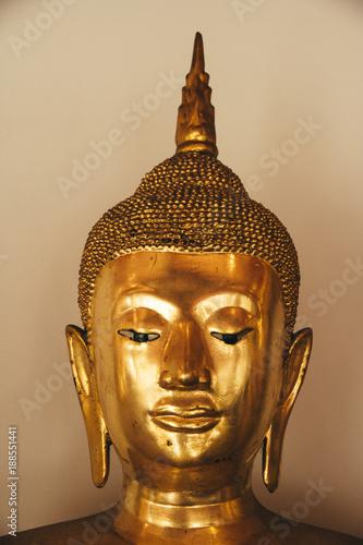 Fotobehang Boeddha Testa Budda dorato
