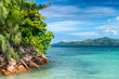 Beautiful island with vegetation, holiday concept
