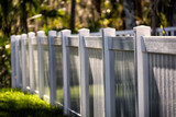 Solid Privacy Vinyl Fence  - 188553234