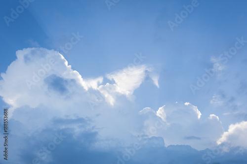 Foto Murales Big cloud on blue day sky