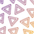 geometric seamless pattern with triangles memphis design vector illustration