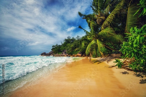 Foto op Canvas Tropical strand Anse Georgette, Praslin, Seychelles Islands
