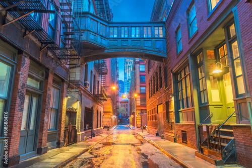 Foto op Aluminium New York New York City Alleyways