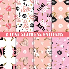 Modern set of cute seamless patterns © Juliya Lykoyanova