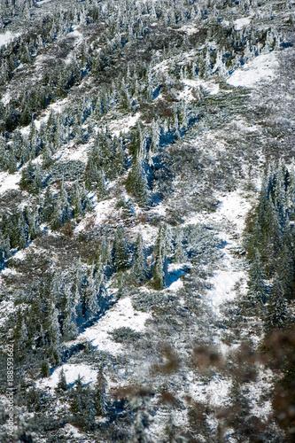 Beautiful winter mountain landscape in national park - 188593662
