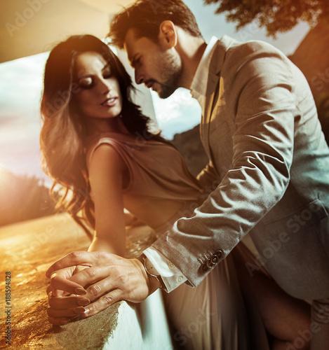 Foto op Canvas Artist KB Portrait of a young, romantic couple