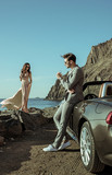Young couple on the luxurious vacation - 188596033