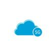 Cloud computing icon, 5G icon