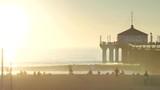 coucher de soleil sur Santa Monica(Los Angeles) - 188608086